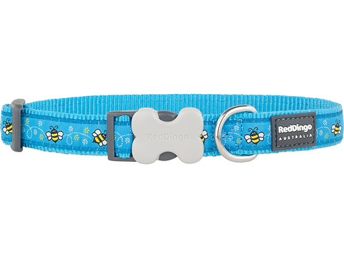 Red Dingo Adjustable Collar - Bumblebee Turquoise