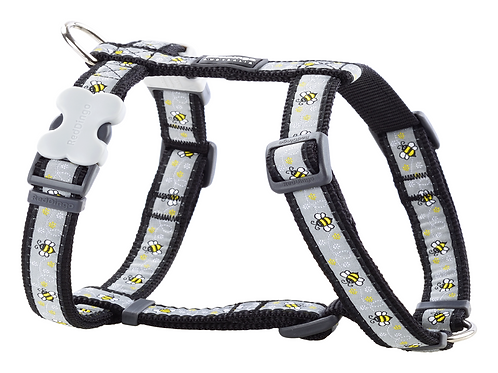 Red Dingo Adjustable Harness - Bumblebee Black