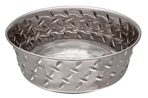Ruff-N-Tuff Diamond Plated Bowl by Loving Pets