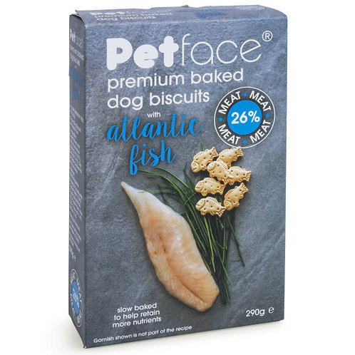Petface Premium Baked Dog Biscuits with Atlantic Fish