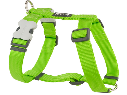 Red Dingo Adjustable Harness - Classic Lime Green