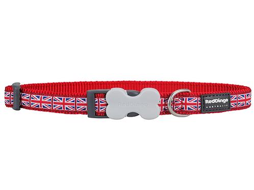 Red Dingo Adjustable Collar - Union Jack