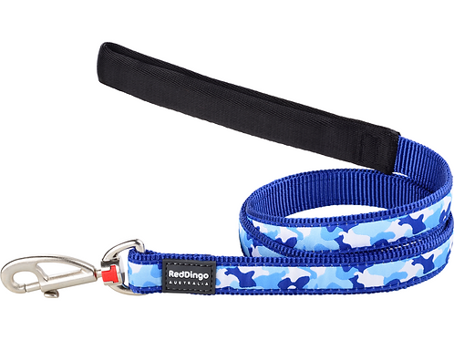 Red Dingo Lead - 1.2m / 4ft - Camouflage Navy