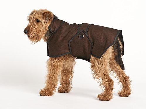 Wool Blazer Coat - Brown