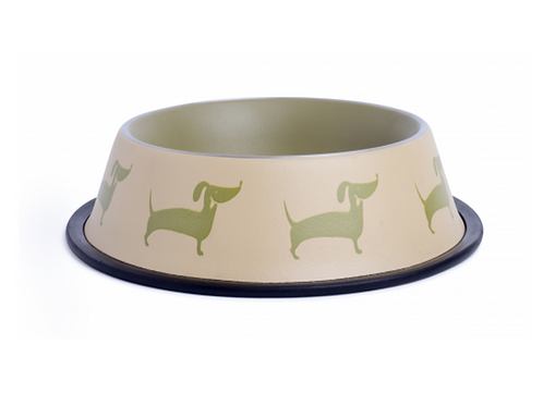 Country Deli Dog Bowl - Stainless Steel - Deli Dog Design