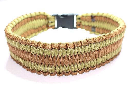 "Paracord Collar - Light Browns - Neck Size 15"" / 38cm"
