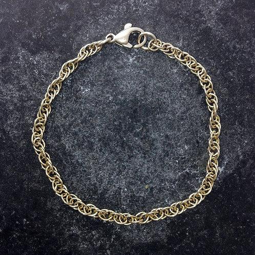 Prince of Wales, rope, braceletin 9ct gold. UK made.