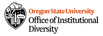Beaver mascot with text: Oregon State University Office of Institutional Diversity logo