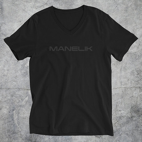 Blackout Unisex Short Sleeve V-Neck Tee