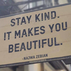Stay kind always