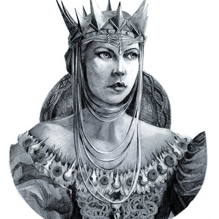 Charlize Theron as Queen Ravenna