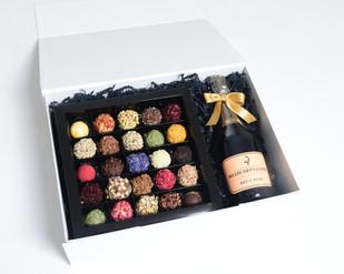 Giftbox Champagne en truffels