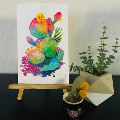 Downward Cat Print