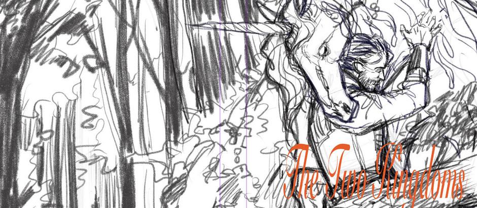 Sketch de la couverture, Les deux Royaumes