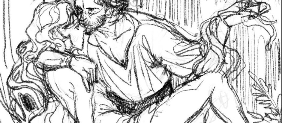 Sketch illustration, Les deux Royaumes <3 par Yaya Chang