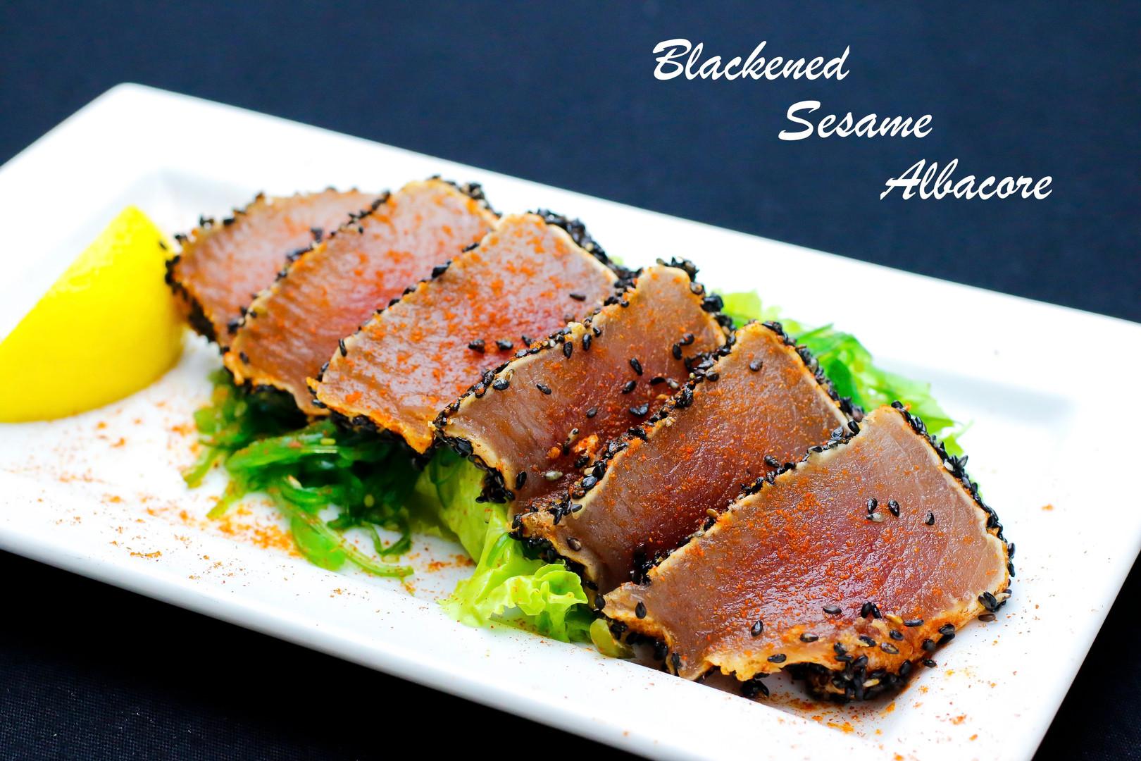 Blackened Sesame Albacore