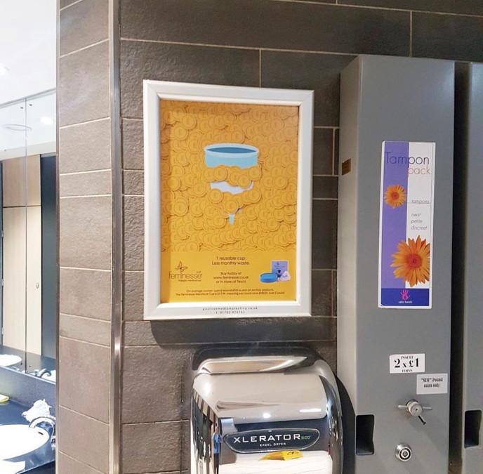 Feminesse Menstrual Cup Washroom Campaign