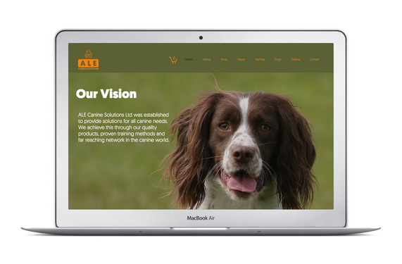 Ale Canine Solutions Website