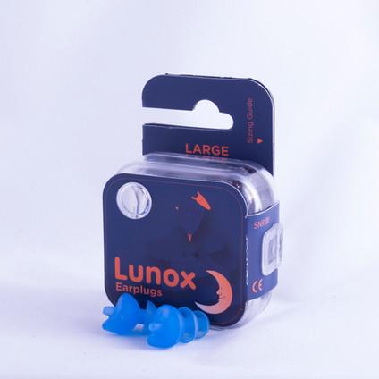 Lunox Earplugs Packaging