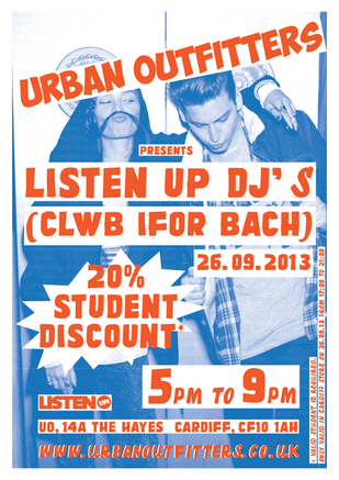Urban Outfitters Promo Flyer - Cardiff