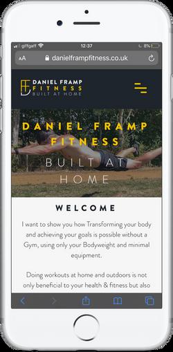 Daniel Framp Fitness Mobile site