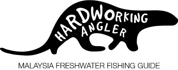 logo hardworking angler fishing guide 20