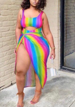 Rainbow Swimsuit Set