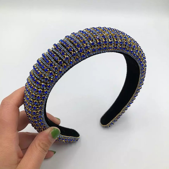 Blue Glam Headband