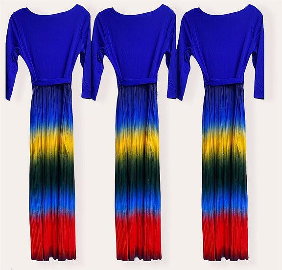 Rainbow Accordion dress