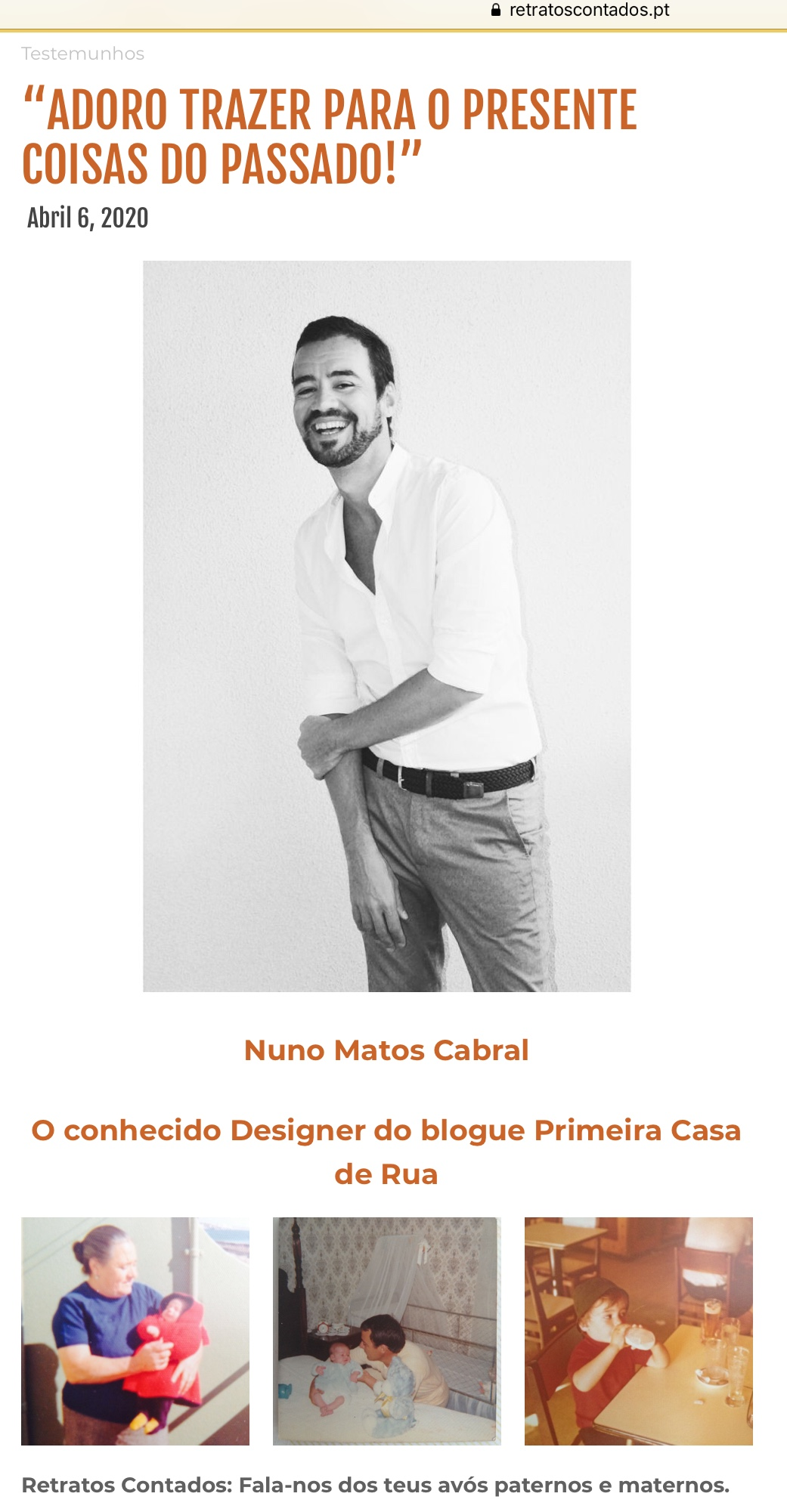 NUNO MATOS CABRAL @ RETRATOS CONTADOS