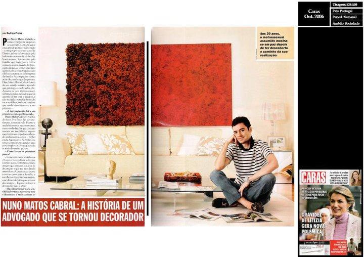 Nuno Matos Cabral na revista Caras