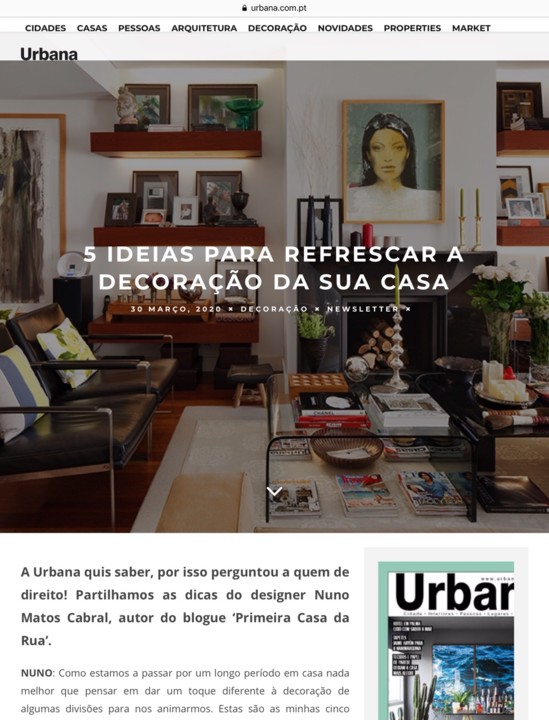 NUNO MATOS CABRAL @ URBANA MAGAZINE