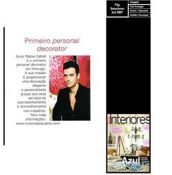 Nuno Matos Cabral na revista VIP