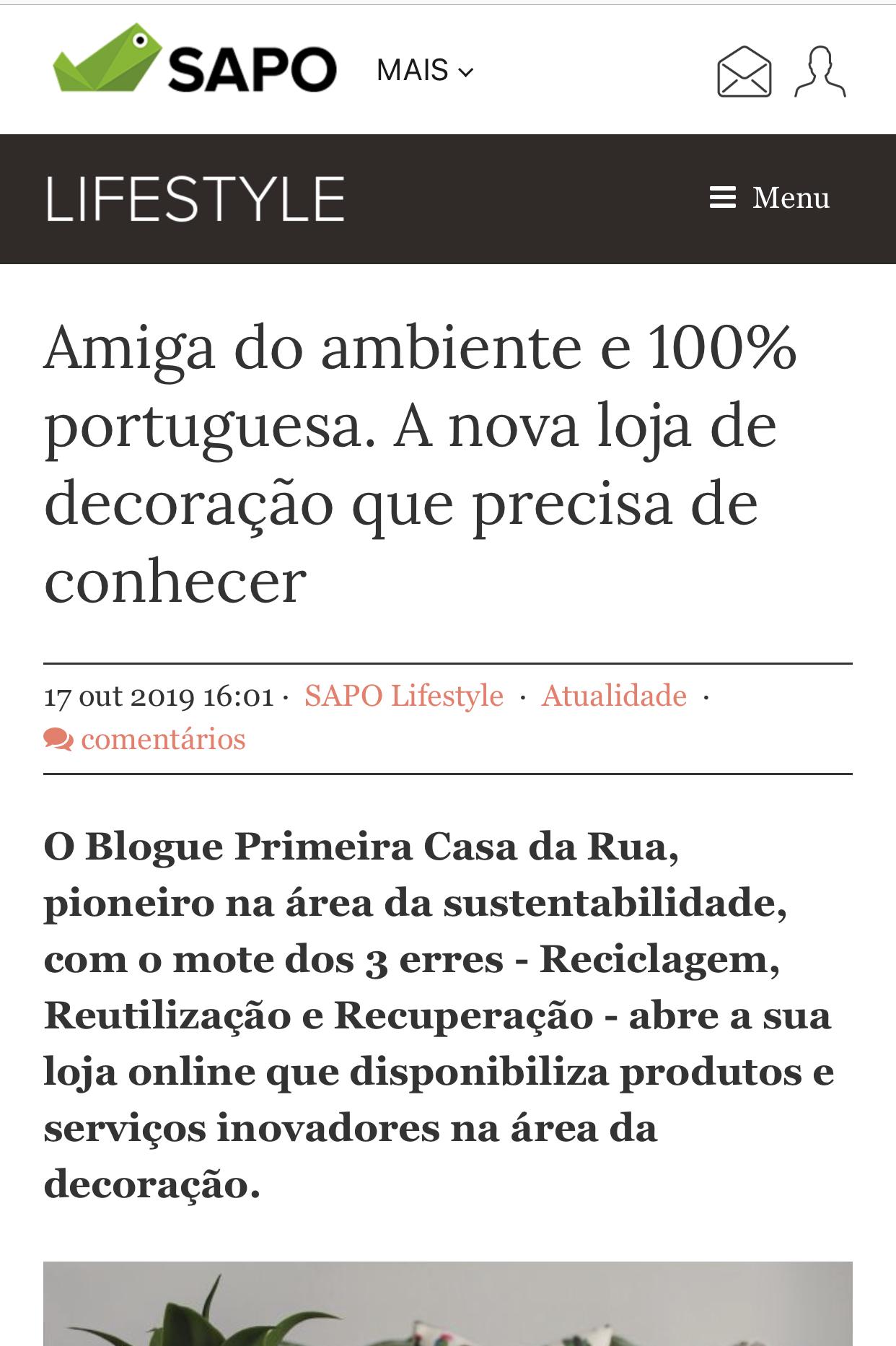 Nuno Matos Cabral @ Sapo Lifestyle