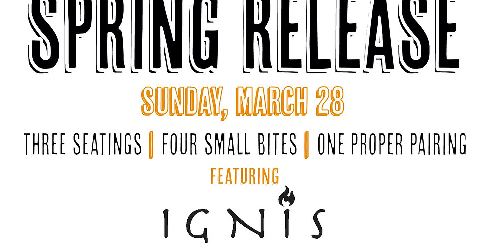 Spring Release Gig (3p Seating)