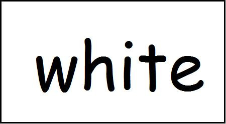Symbols: White