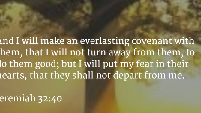 A Covenant of Fear