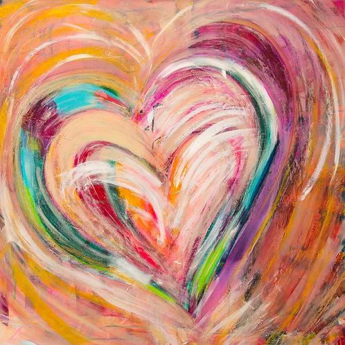 Custom Just Flow Love Healing Hearts  36x36