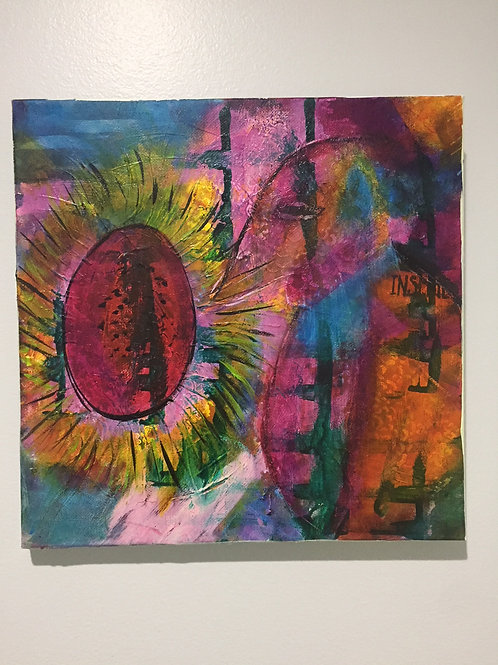 Flower Burst an Original Acrylic Intuitive Channeled Painting