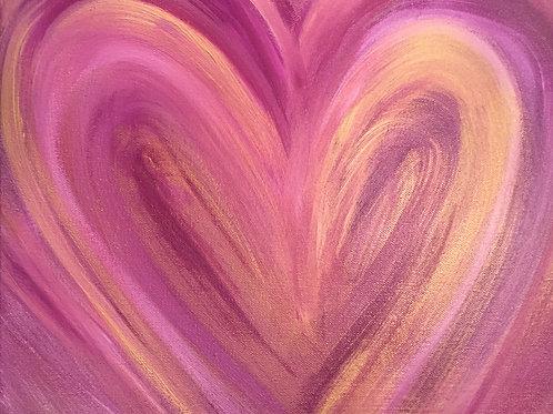 Custom Intuited Healing  Hearts 18 x 18
