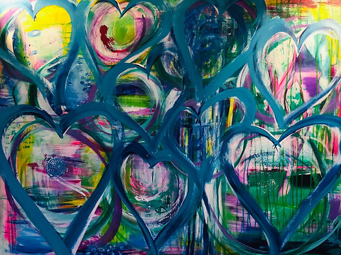 Crazy Happy Heart 24 x 36