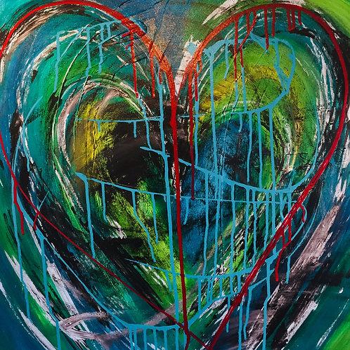 Wild Heart 24 x 24