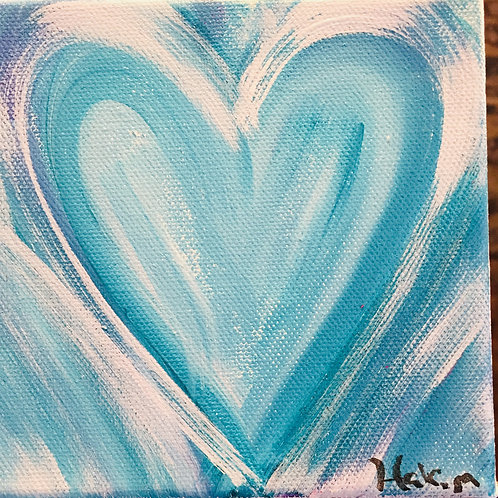Tiny Blue Love 5 x 5