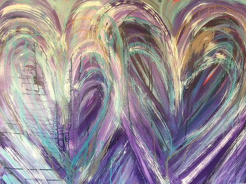 Messy Purple Love 48 x 36