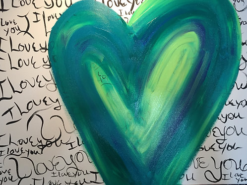 Flow Your Own Love Heart Painting Retreat for Friends/Family Price is per person