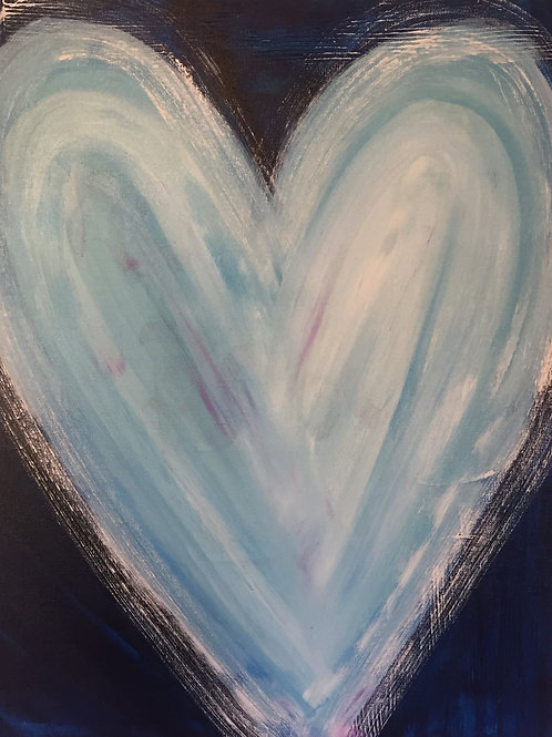 Baby Blue Love 20 x 24