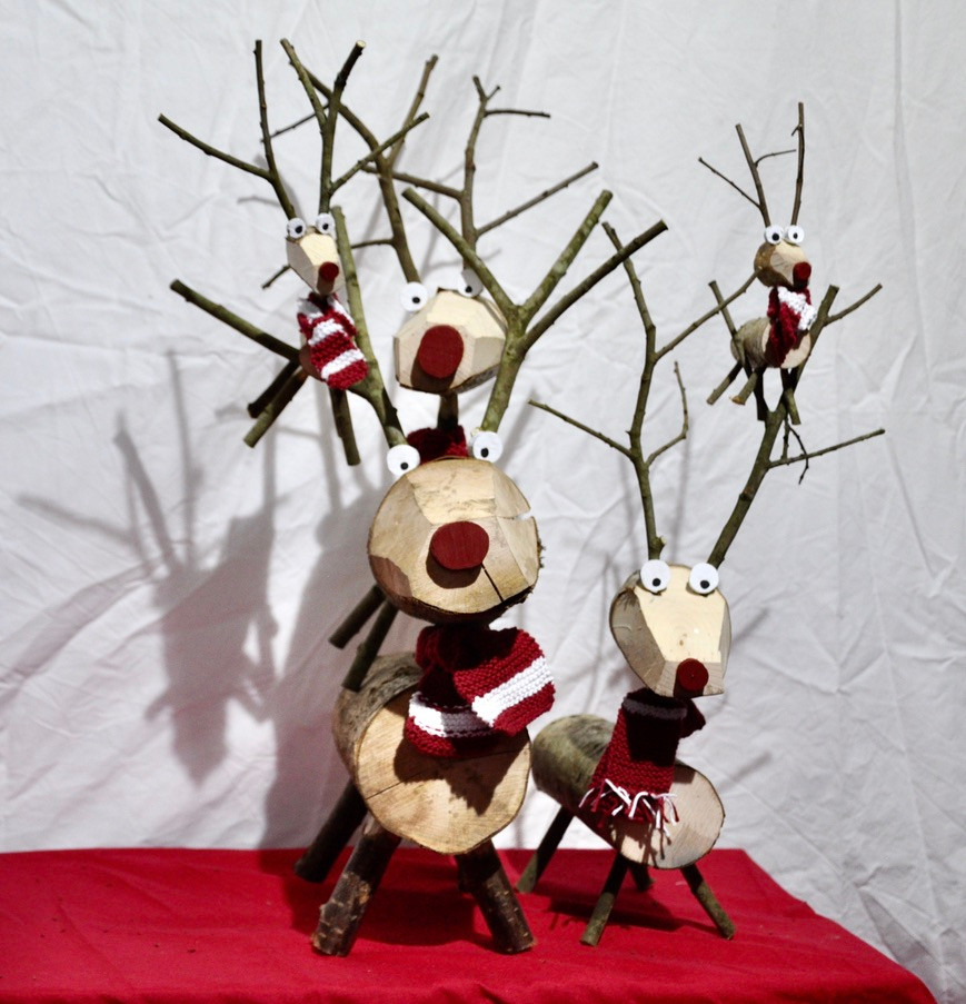 Reindeer pile up