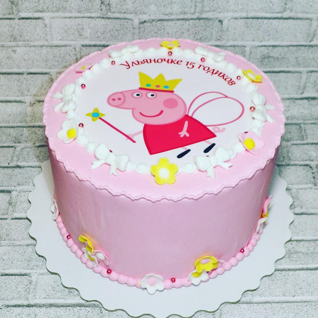 Торт с сахарной бумагой