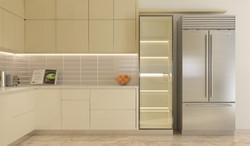 Modular kitchen Beige Cappucino with tal