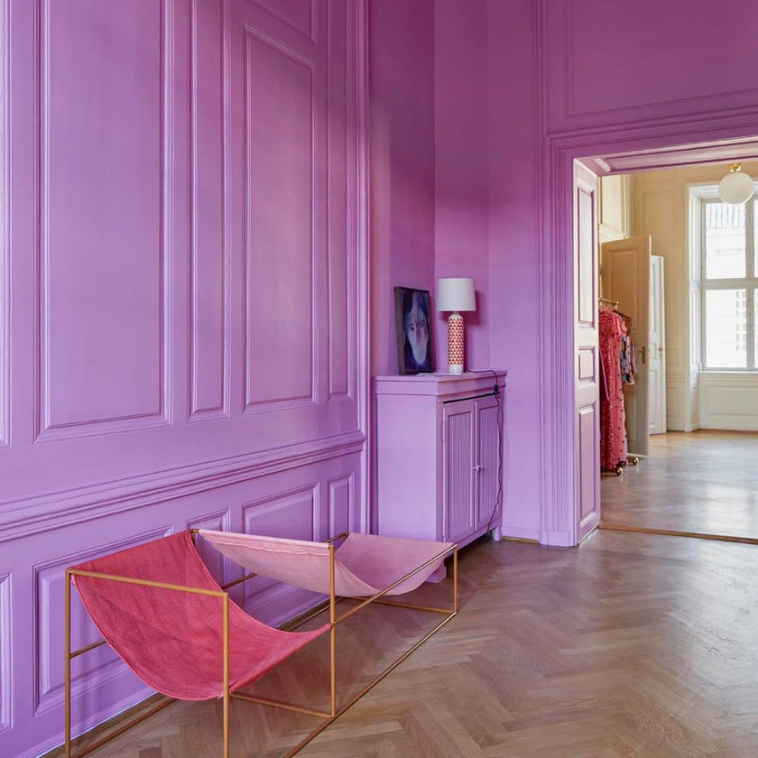 adding character to hallway, interior designing by lakkad works, bright colured wall or wallpaper in hallway